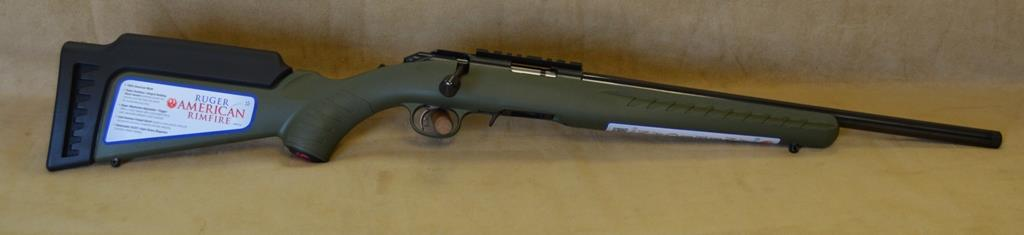 8335 Ruger American OD Green Threadded - 22 Mag  Guns > Rifles > Ruger Rifles > American Rifle