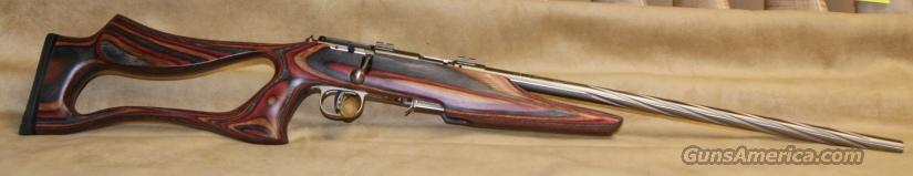 96771 Savage Model 93R17 BSEV (Sprial Stainless/TH) - 17 HMR  Guns > Rifles > Savage Rifles > Accutrigger Models > Sporting