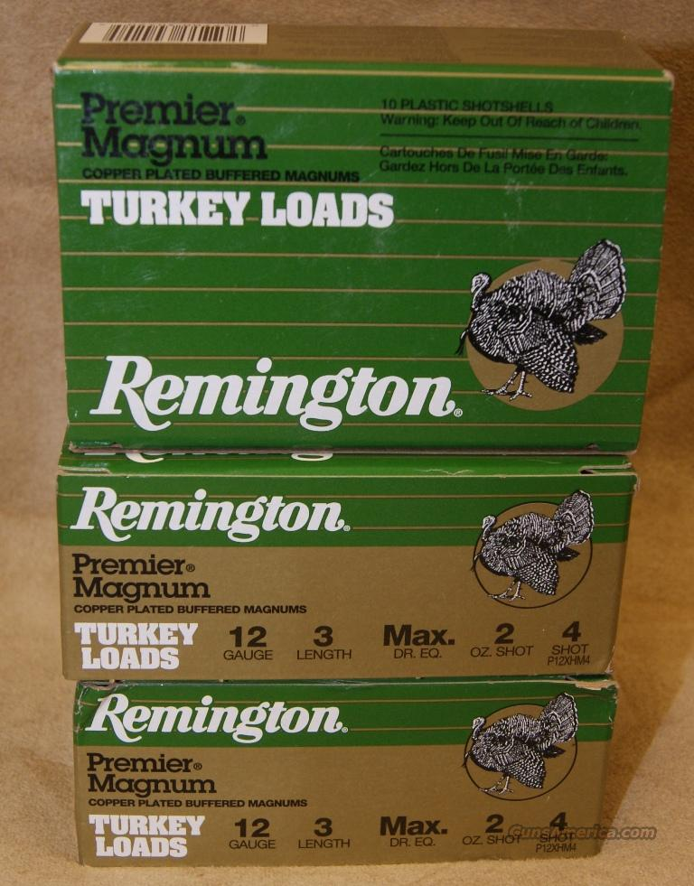 "Remington Premier Magnum 12 gauge 3"" 4 shot Turkey Loads  Non-Guns > Ammunition"