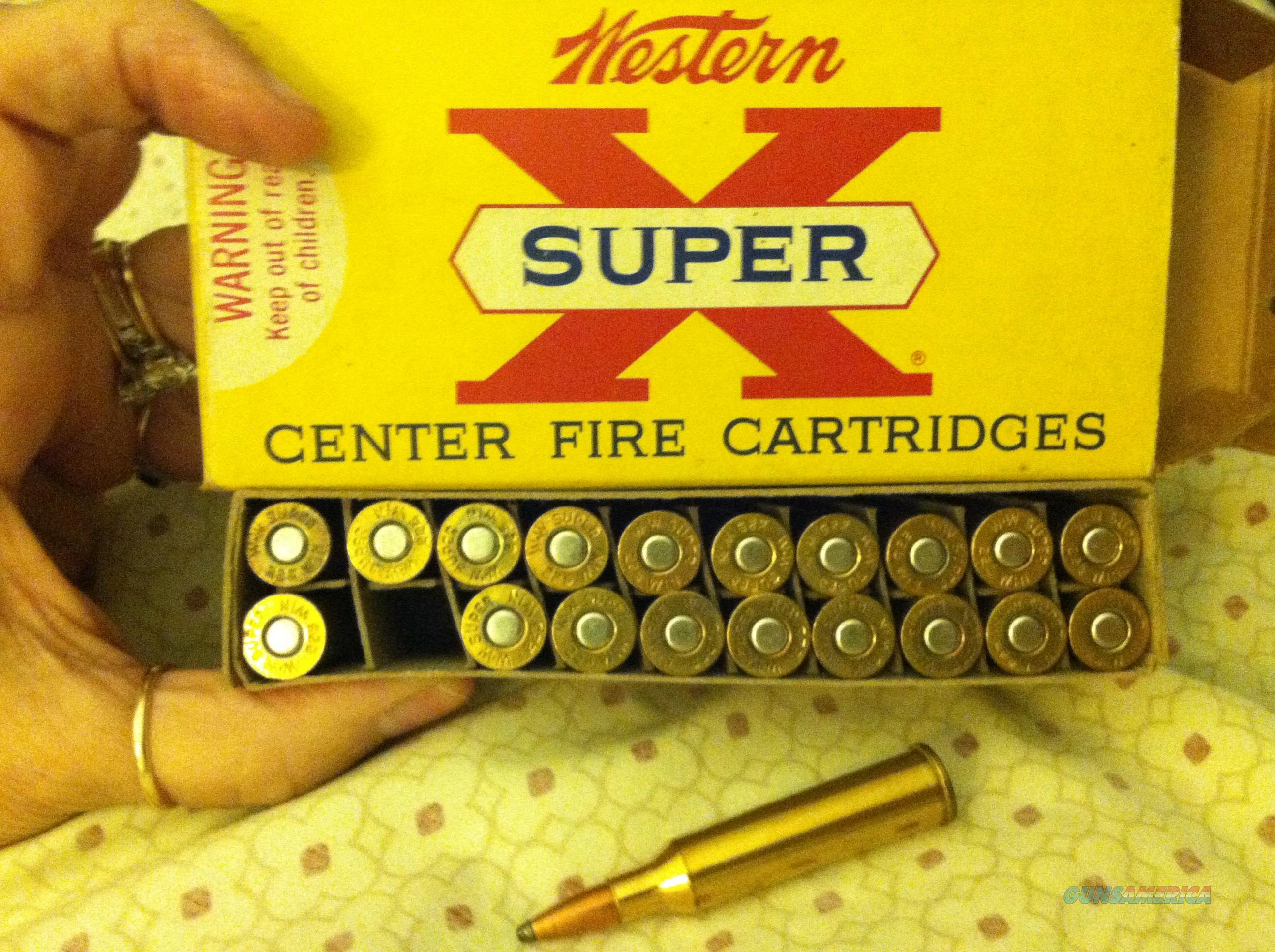 WESTERN 225 WINCHESTER 20 CARTRIDGES 55 GR. POINTED SOFT POINT SUPER X CENTER FIRE   Non-Guns > Ammunition