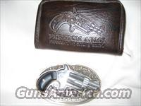 Freedom 22/6 shot derringer in belt buckle w/ leather case  Freedom Arms Pistols