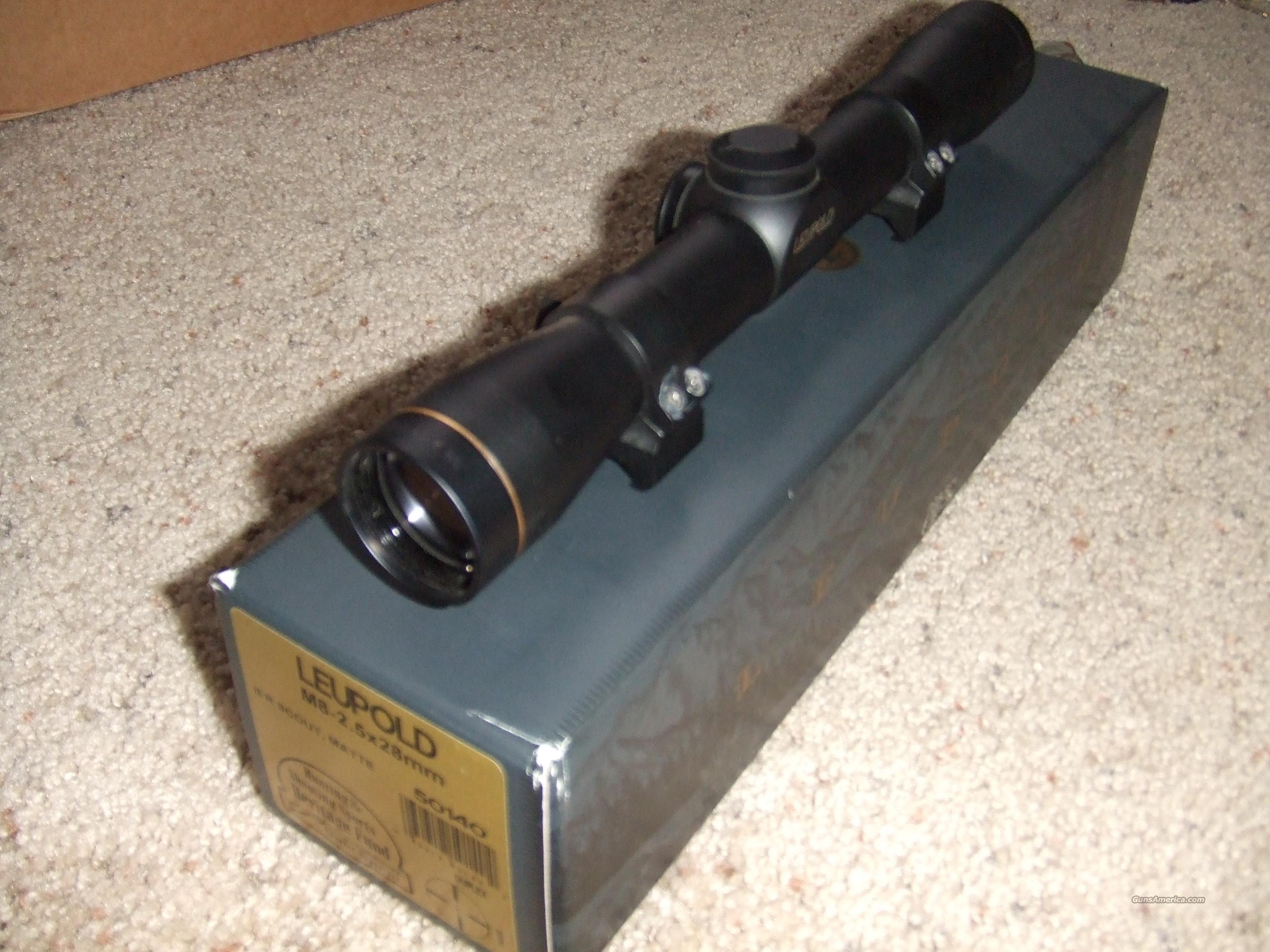Leupold Scout Scope M8 2.5x28   Non-Guns > Scopes/Mounts/Rings & Optics > Rifle Scopes > Fixed Focal Length