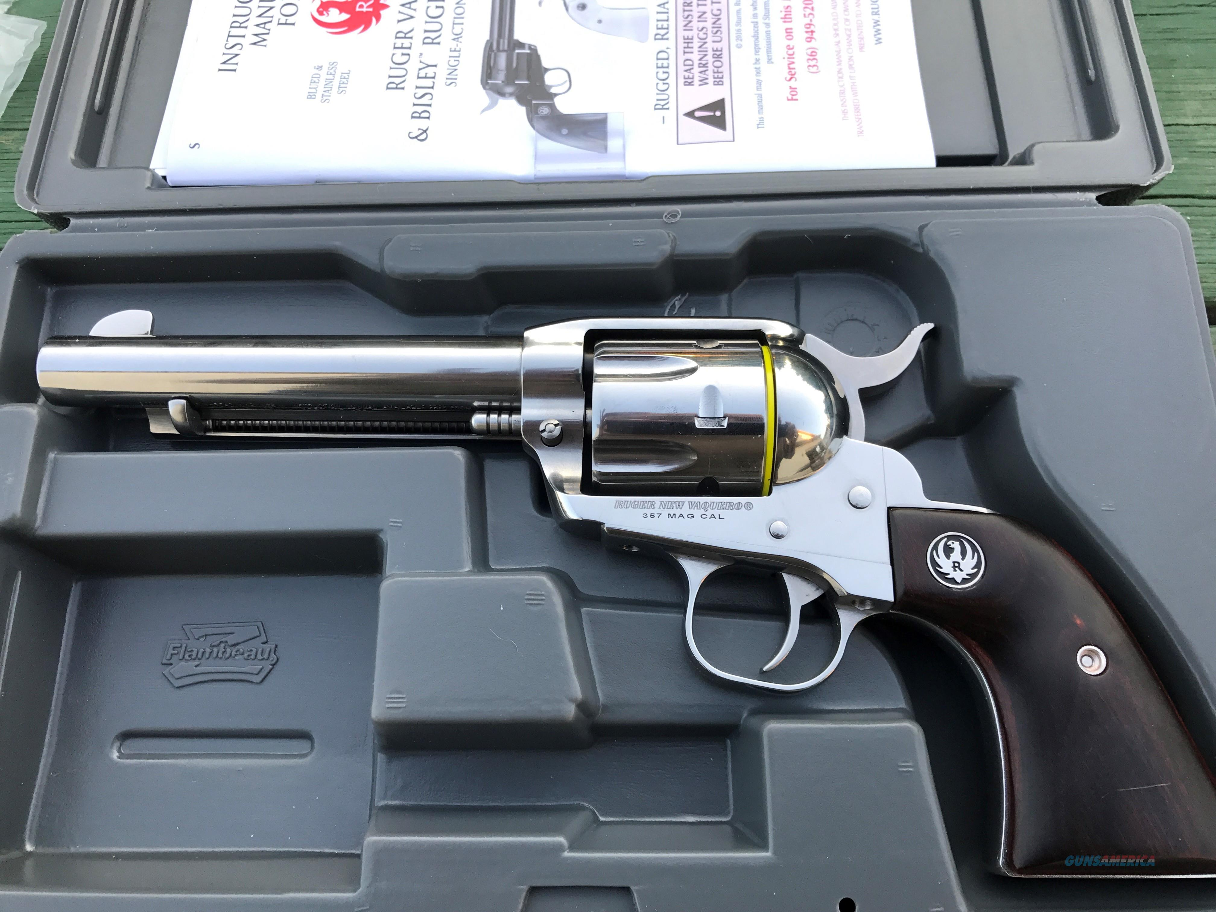 RUGER VAQUERO REDUCED Mag Bright Stainless  Guns > Pistols > Ruger Single Action Revolvers > Cowboy Action