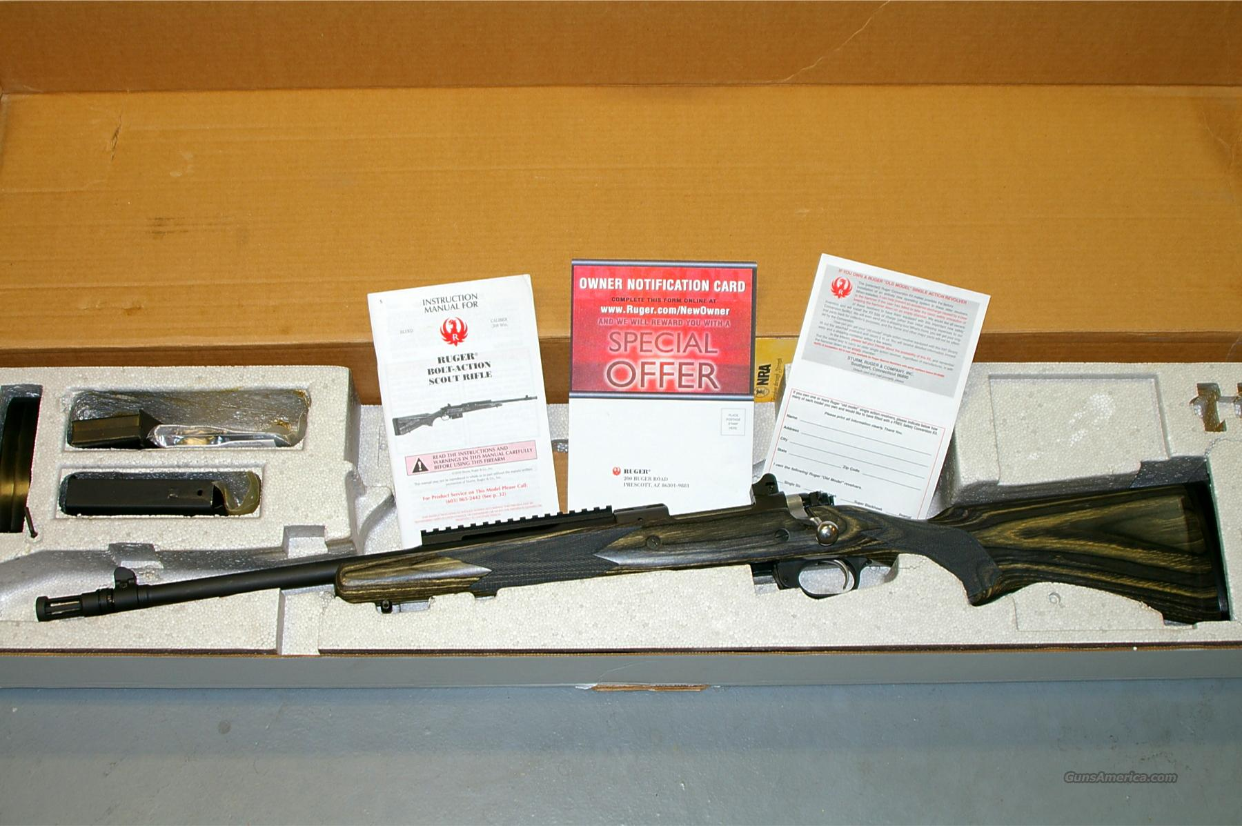 New Ruger Gunsite Scout - Left Hand, NIB  Guns > Rifles > Ruger Rifles > Lever Action