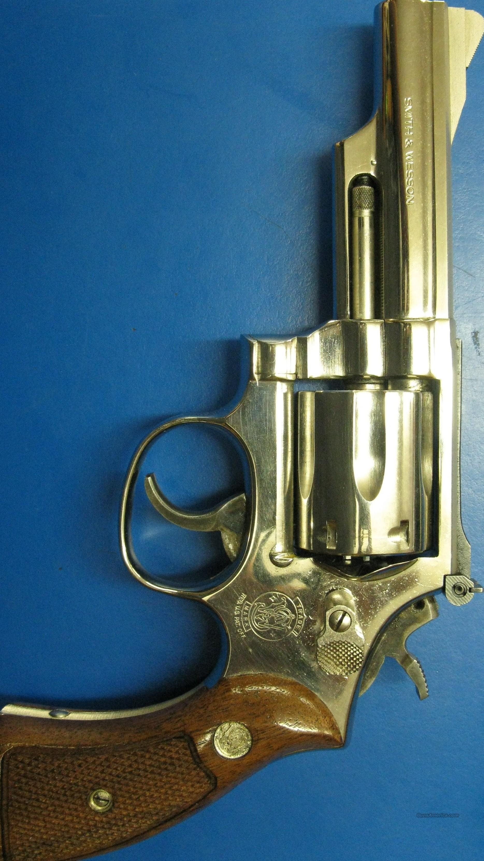 Smith and Wesson model 19-5 nickel 4-inch  357 magnum  Guns > Pistols > Smith & Wesson Revolvers > Full Frame Revolver