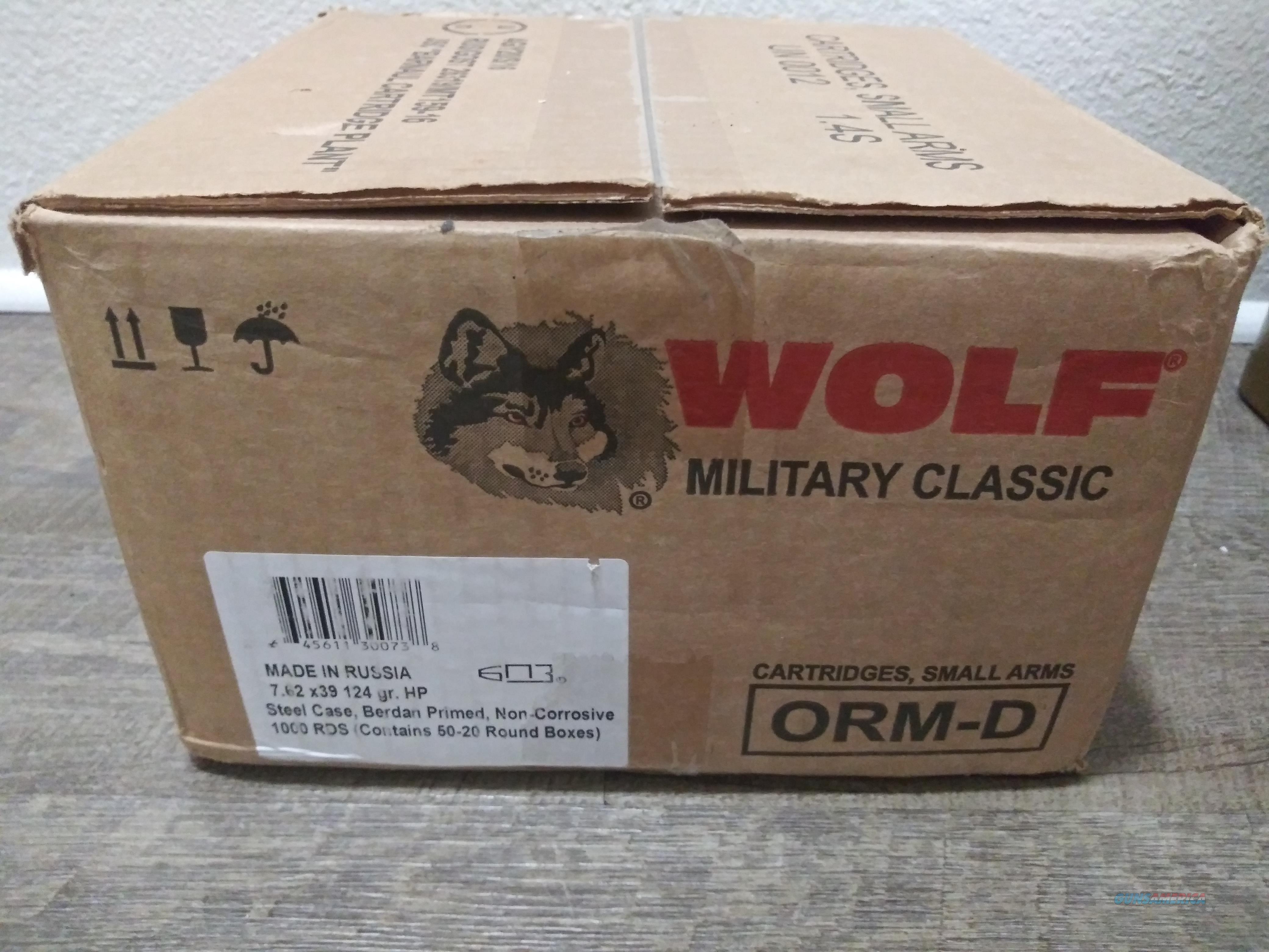 RUSSIAN FEDERATION WOLF CLASSIC HP 1000RDS 7.62X39 SEALED AMMO BOX  Non-Guns > Ammunition
