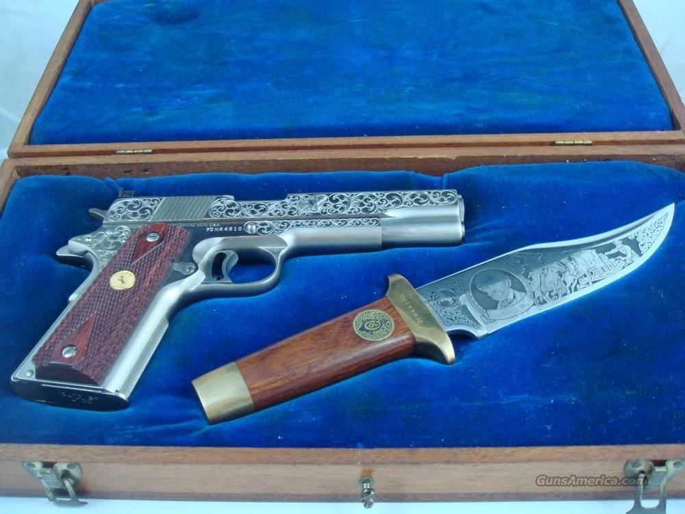 Colt 1911 Custom Shop Engraved Mk Iv 70 Series For Sale