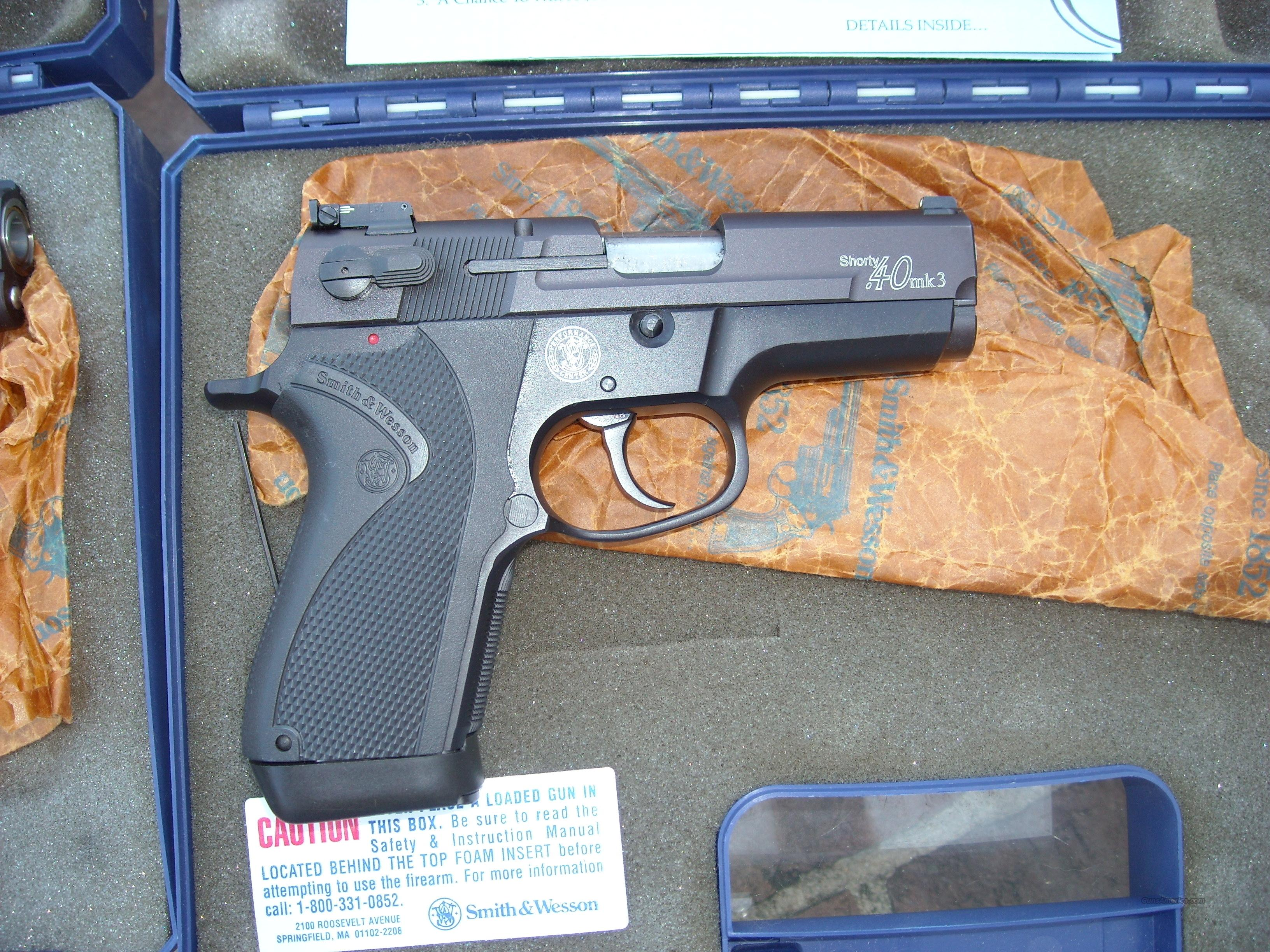 Smith & Wesson Shorty.40 Mark 3  Guns > Pistols > Smith & Wesson Pistols - Autos > Alloy Frame