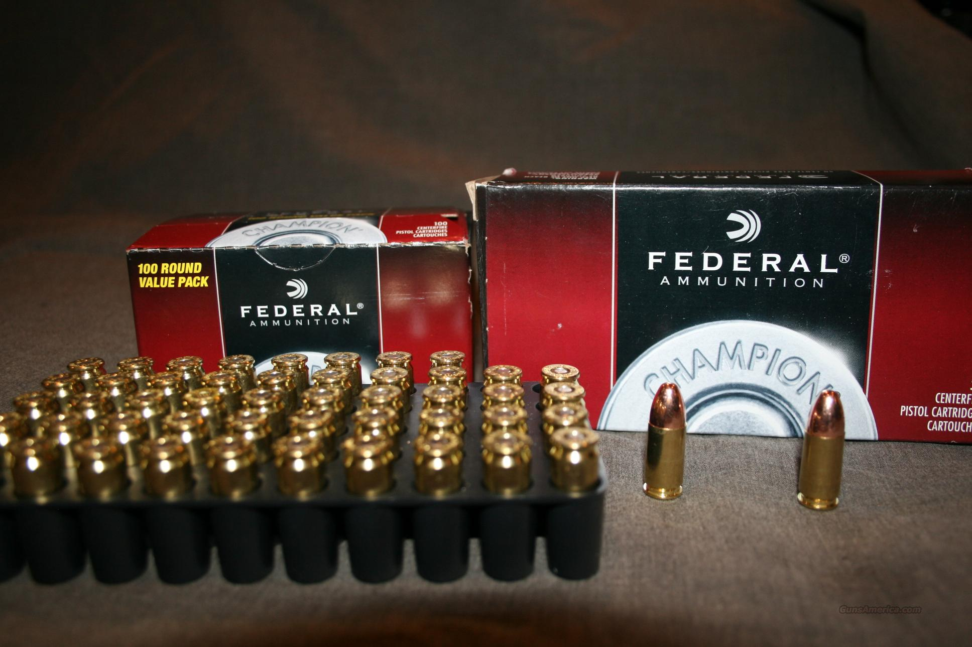 9mm ammo, 50 Rounds Federal  Non-Guns > Ammunition