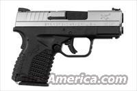"Springfield Armory XD-S, NEW, SKU #XDS93345S, Stainless Steel Slide, Black Polymer Frame, Fiber Optic Sights, 3.3"" Barrel, with (2) Magazines, with Black Plastic Case, Holster, Dual Magazine Holder, Includes Lifetime Replacement Warranty  Springfield Armory Pistols > XD-S"