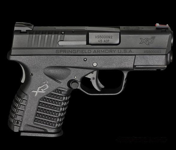 "Springfield Armory XDS, Single Stack .45ACP, 3.3"" Barrel, Black Melonite Finish...  Guns > Pistols > Springfield Armory Pistols > XD-S"