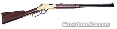 "HENRY, Model #H004, GOLDENBOY, LEVER ACTION, RIMFIRE RIFLE,  22LR,  20"" OCTAGON BBL,  BRASS LITE RECEIVER AND WALNUT STOCK, SPORTING REAR SIGHTS...  Guns > Rifles > Henry Rifle Company"