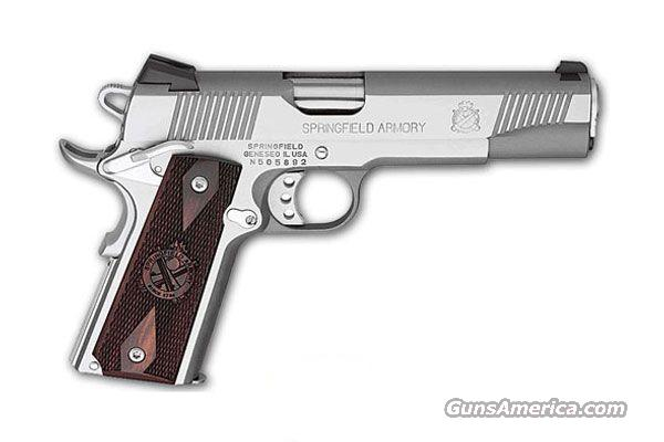 "Springfield Armory, PX9151LP, Stainless Steel, Cocobolo Grips, Fixed Sights, 1911A1, 7+1, 2-Mags, Novak Low Mount Sights, 5"" Barrel,  Guns > Pistols > Springfield Armory Pistols > 1911 Type"