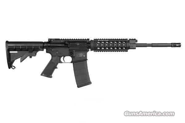 "Smith & Wesson, M&P15PS, SKU #811022, AR-15 Rifle, .223/5.56mm NATO, Hard Coat Black Anodized, #7075 T6 Aluminum Lower, Gas Piston Operating System, NO SIGHTS, 16"" Barrel Length, With Samson Black Anodized Quad Rail (Free Floating)...  Guns > Rifles > Smith & Wesson Rifles > M&P"