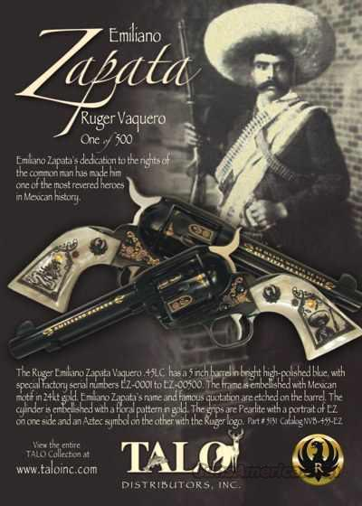 Ruger, Emiliano Zapata Commemorative Revolver, 45LC,   Guns > Pistols > Ruger Single Action Revolvers > Cowboy Action