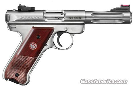 Ruger, Model KMKIII45H, MarkIII Hunter Model, .22LR, Stainless Steel, with Cocobolo Grips, Ruger Stock #10132  Guns > Pistols > Ruger Semi-Auto Pistols > Mark I & II Family
