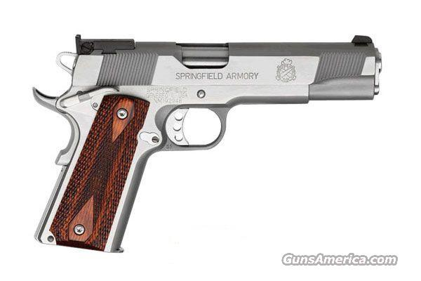 "Springfield Armory, Model PI9132LP, NEW, Stainless Steel, Cocobolo Cross Cannon Grips, 5"" Barrel, Lightweight Speed Trigger, High-Hand Beavertail Grip Safety, with Gray Plastic Case, Mag Pouch, Paddle Holster   Guns > Pistols > Springfield Armory Pistols > 1911 Type"