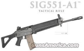 "SIG SAUER 551-A1, NEW,Tactical Rifle, 5.56 (NATO) Caliber, Side Folding Stock,  M1913 Rail, 16"" Barrel, Features Six-Groove Rifling and a Twist Rate of 1:7"", Designed for Special Forces/Black Ops...EXTRA (30) Round Magazines Available...   Guns > Rifles > Sig - Sauer/Sigarms Rifles"