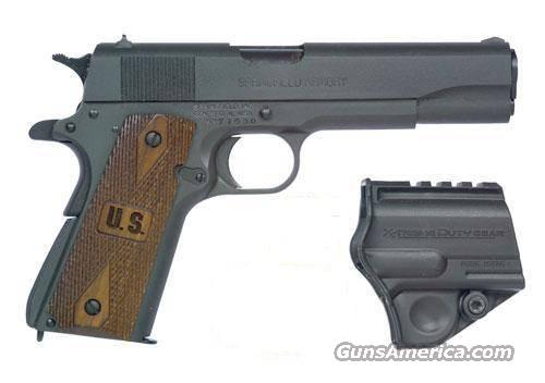 Springfield Armory, Model PW9108LP, 45ACP, 1911-GI Model, Blue, with US Wood Grips...  Guns > Pistols > Springfield Armory Pistols > 1911 Type