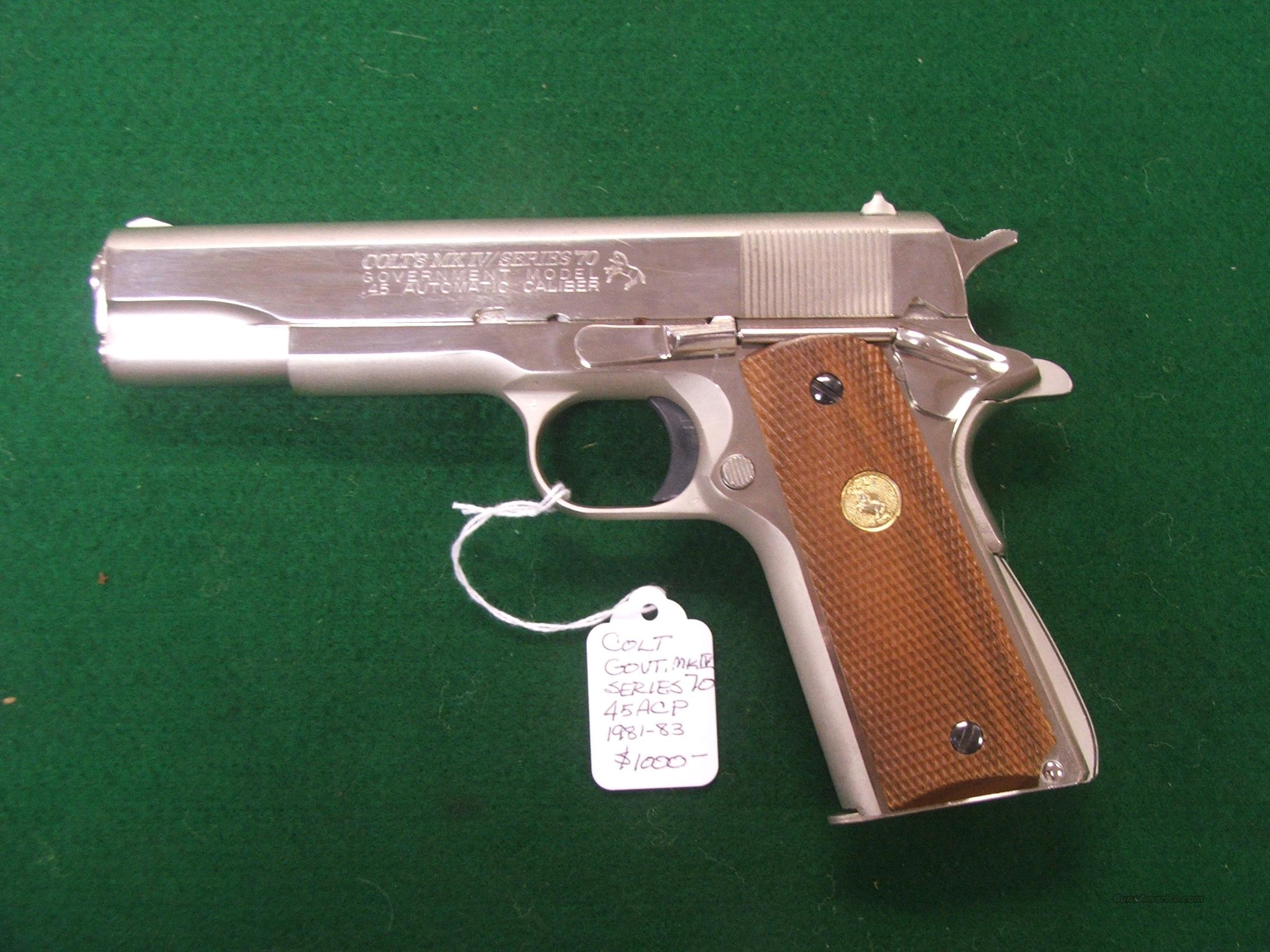 Colt Series 70 M1911A1 Nickel Plated  Guns > Pistols > Colt Automatic Pistols (1911 & Var)