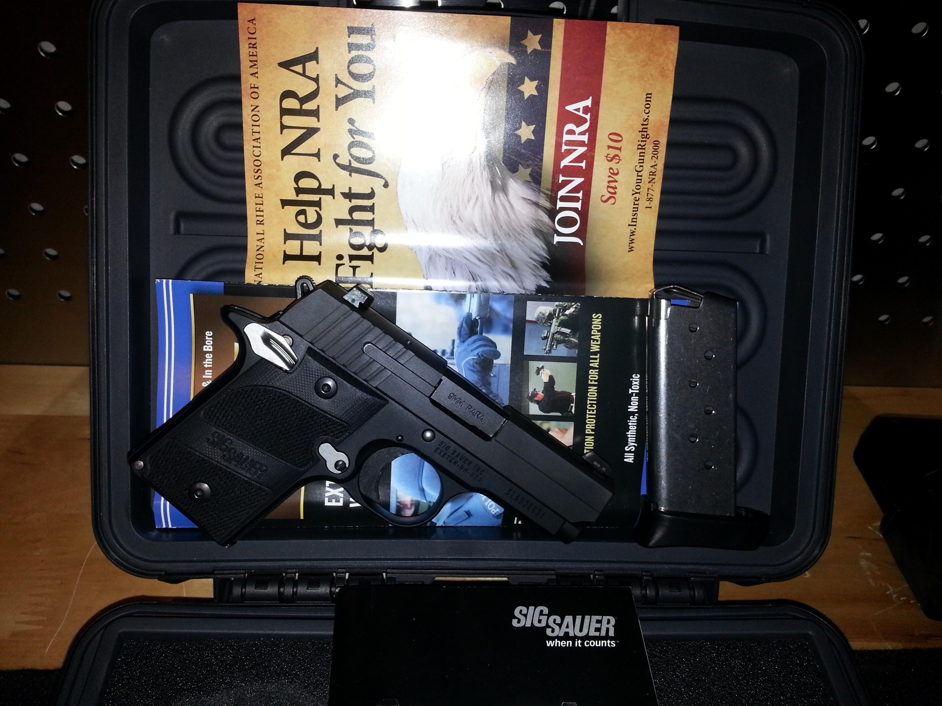 Sig Sauer P938 Nightmare - 9mm Pistol w/ SIGLITE Night Sights - 6rd SG938-9-NMR-AMBI  Guns > Pistols > Sig - Sauer/Sigarms Pistols > Other