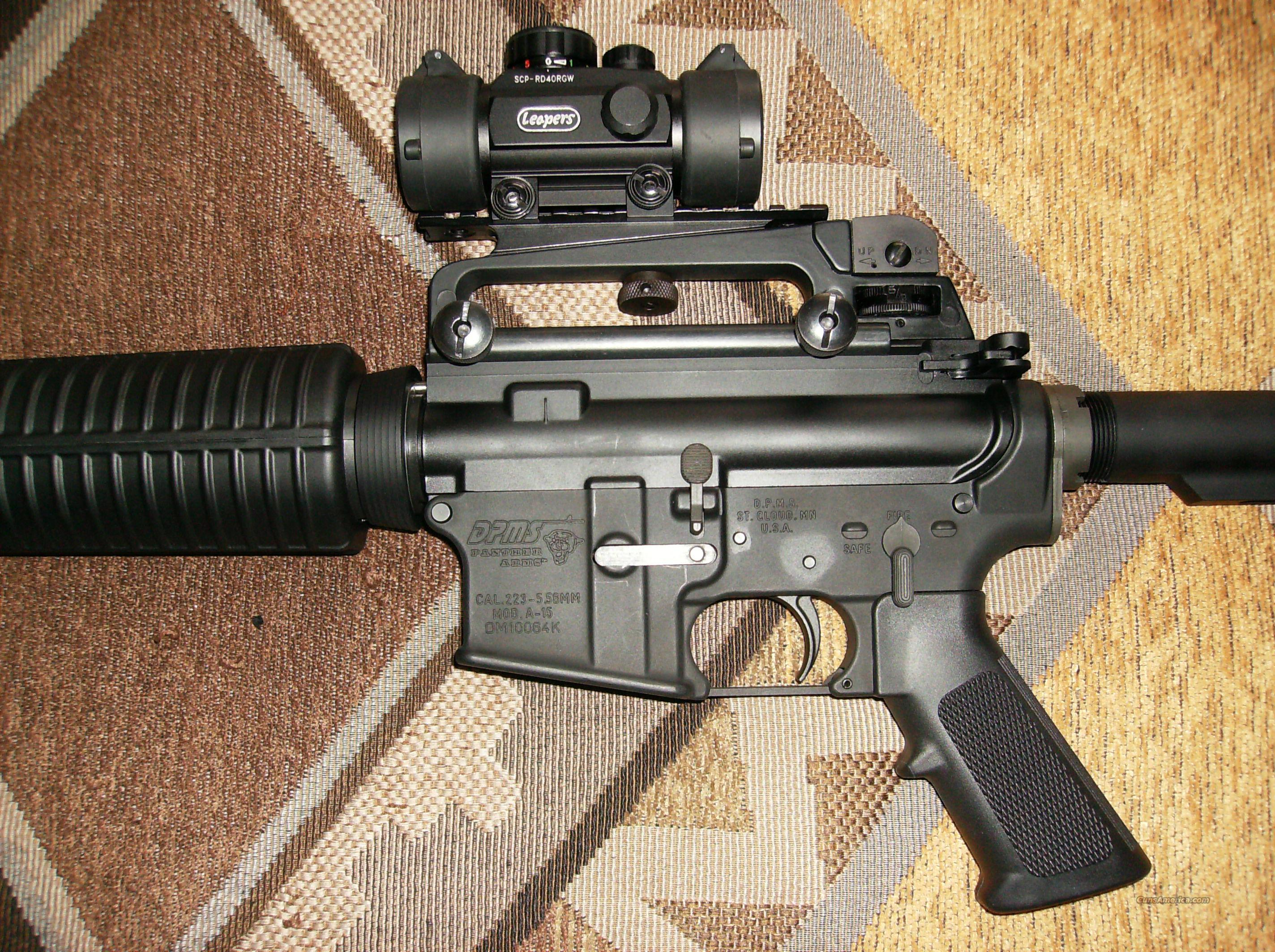 DPMS AR15 with Iron Sights and Red Dot  Guns > Rifles > AR-15 Rifles - Small Manufacturers > Complete Rifle