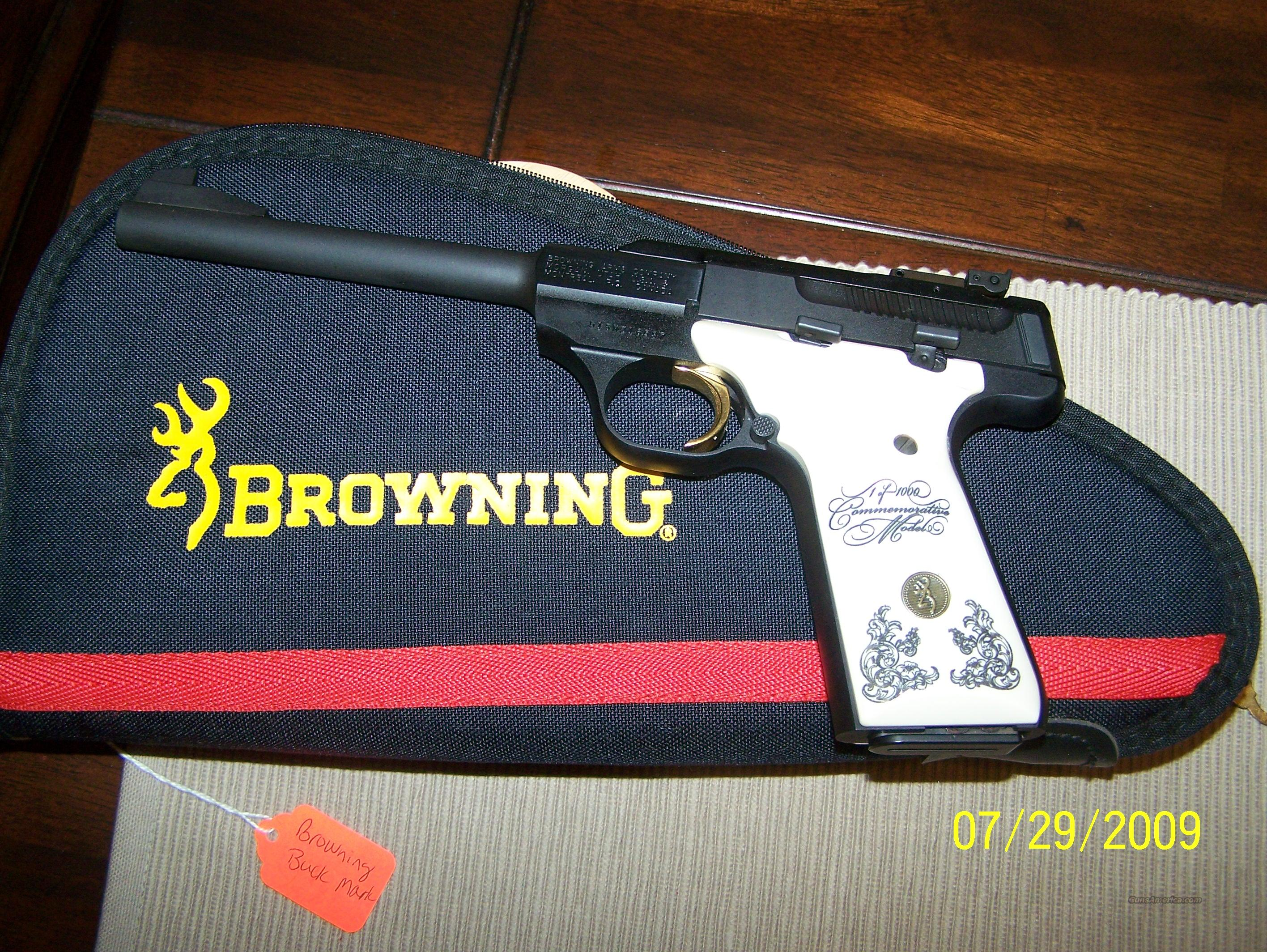 Browning 25th commemorative buckmark 22 long rifle  Guns > Pistols > Browning Pistols > Buckmark