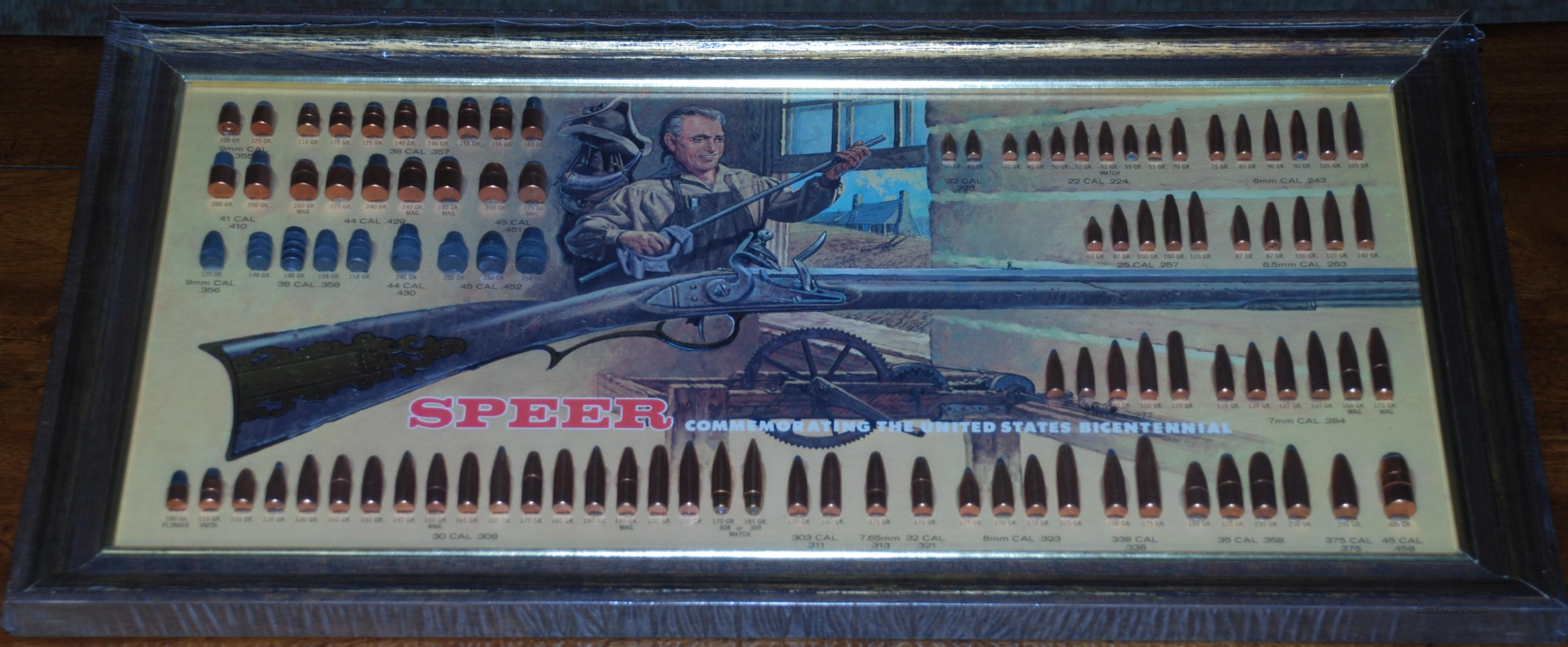 "Speer Bullet Display Board ""Bicentennial"" 1976 Mint Condition  Non-Guns > Collectible Cartridges"
