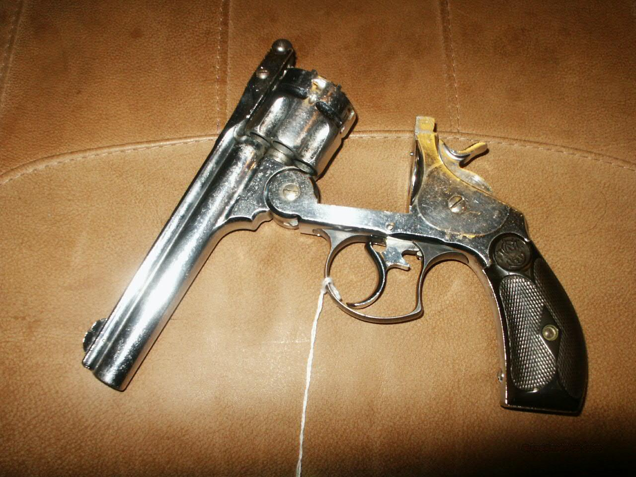 S/W .44 Hand Ejector MDL. Nickel  Guns > Pistols > Smith & Wesson Revolvers > Pre-1945