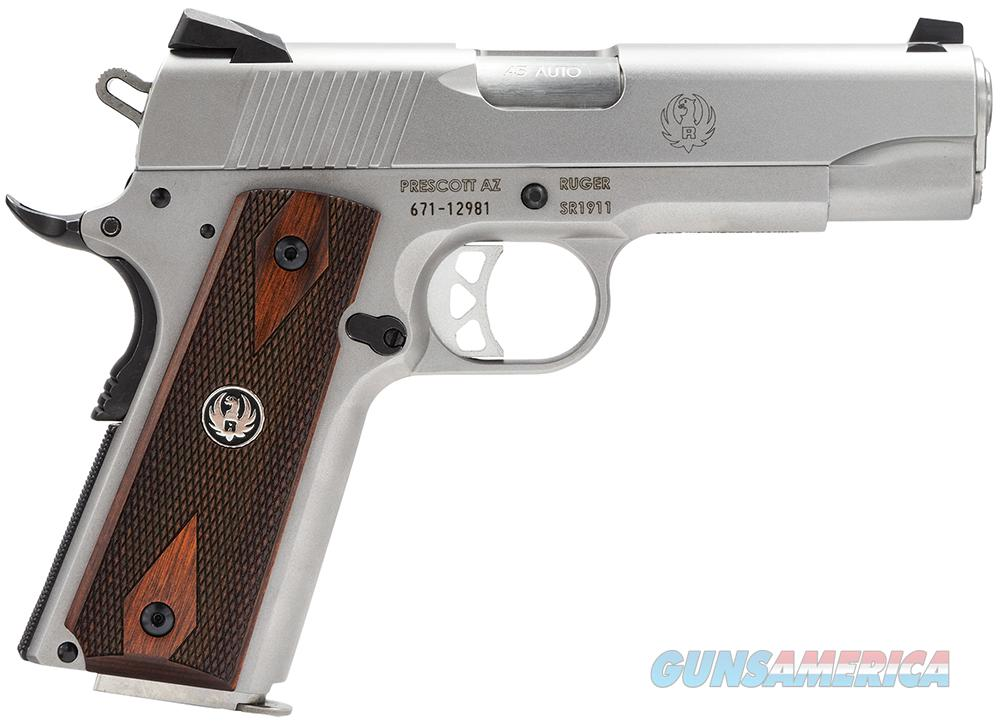 Ruger SR1911 Commander, 45ACP,  Mfg# 06702, Stainless,  New in box  Guns > Pistols > 1911 Pistol Copies (non-Colt)