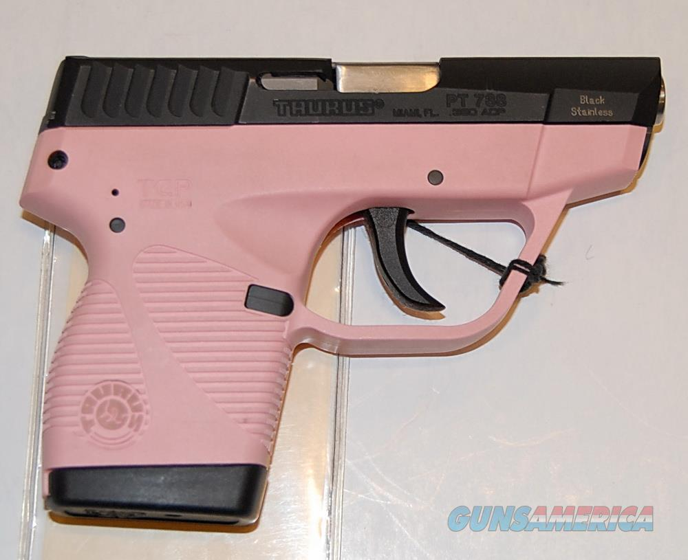 Taurus PT738 Used, .380 cal, Pink Frame, Very good cond.   Guns > Pistols > Taurus Pistols > Semi Auto Pistols > Polymer Frame