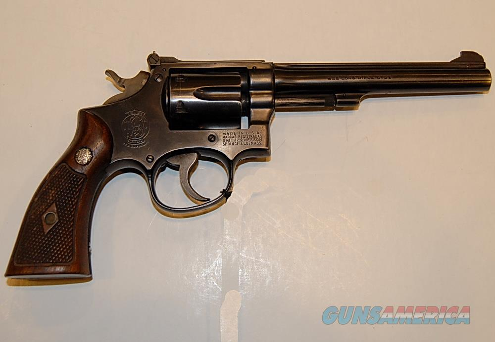 "Smith & Wesson Mod 17 Used, 22 Cal, Blue, 6"", Good Condition  Guns > Pistols > Smith & Wesson Revolvers > Med. Frame ( K/L )"