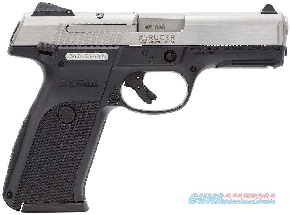 "Ruger SR40, 40 Cal, Bitone, 4.14"" barrel, Mfg# KSR40, New in Box  Guns > Pistols > Ruger Semi-Auto Pistols > SR Family > SR40"