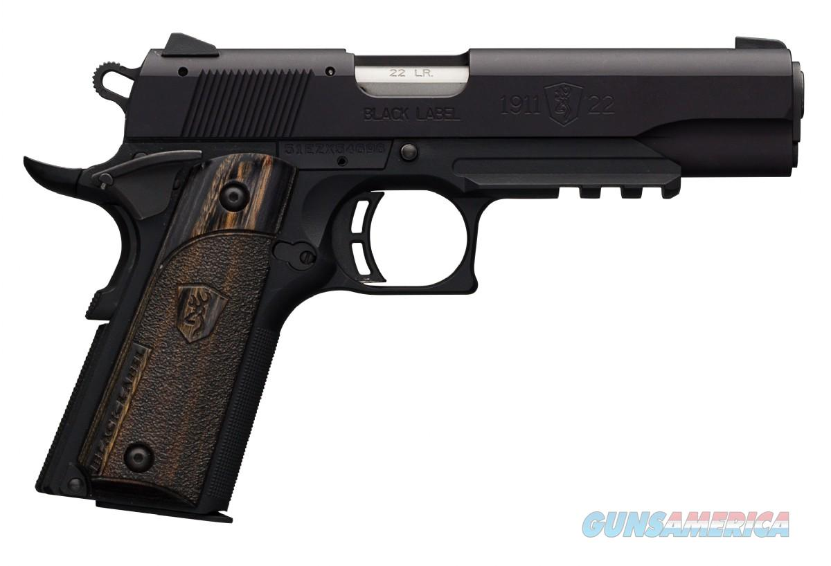Browning Black Label 1911-22, 22LR, Full Size W/ Rail, Mfg# 051816490, NIB  Guns > Pistols > Browning Pistols > Other Autos