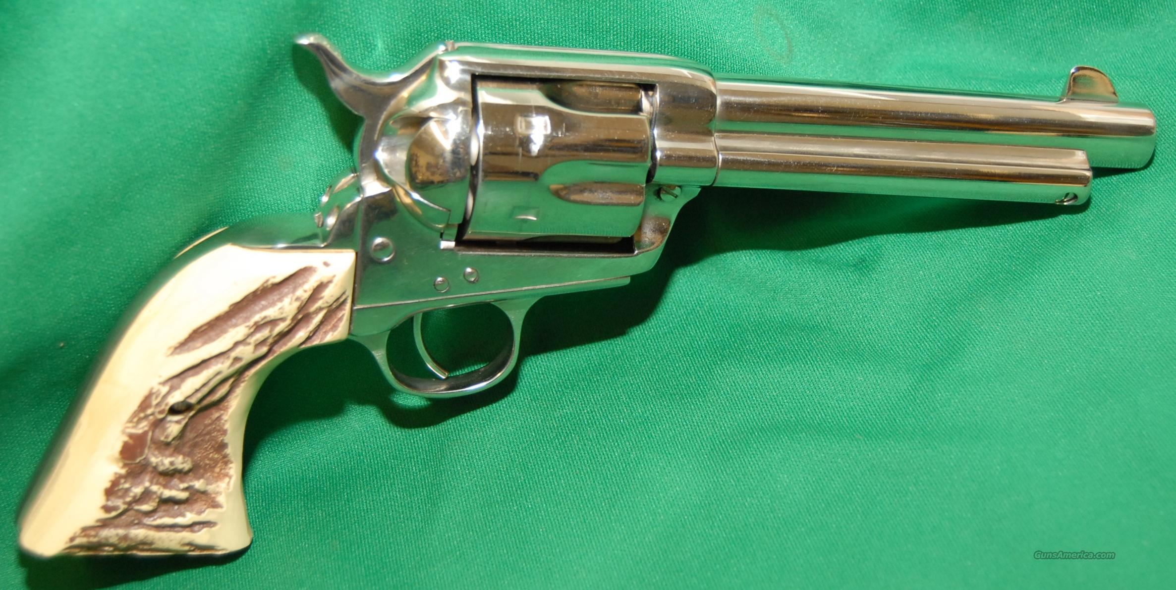 American Western Arms 1873 Peacekeeper Nickel finish. Cal 44  Guns > Pistols > Cowboy Action Pistol Misc.