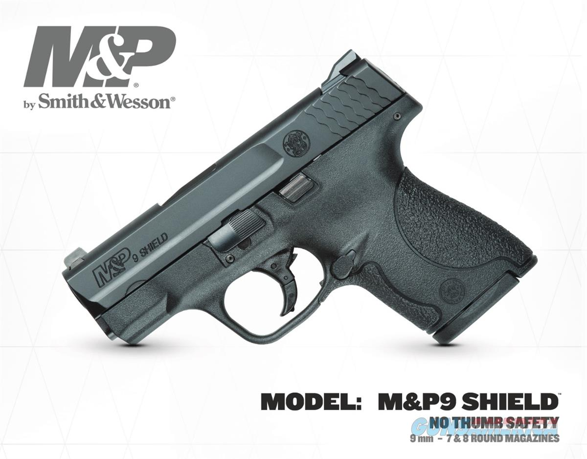 Smith & Wesson Shield 9mm, No Safety, Mfg10035,NIB  Guns > Pistols > Smith & Wesson Pistols - Autos > Polymer Frame