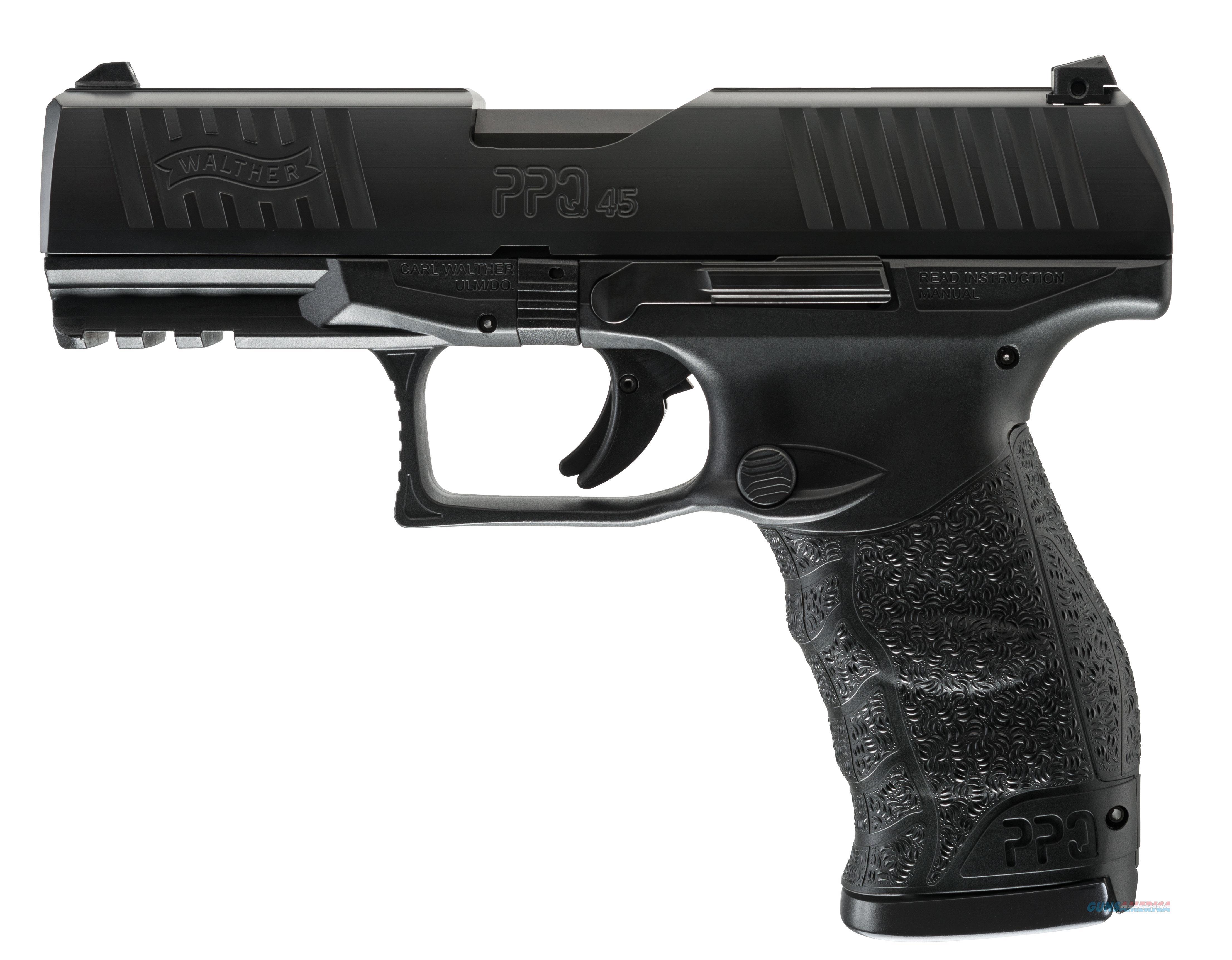 """Walther PPQ M2, 45 Acp, 4.25"""" barrel, Black, Mfg#2807076, NIB  Guns > Pistols > Walther Pistols > Post WWII > P99/PPQ"""