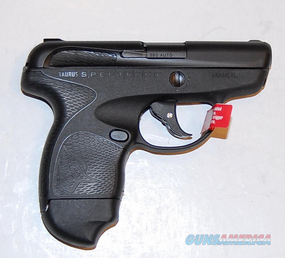 Taurus Spectrum, .380, Black, two 6 Rd Mags, NIB  Guns > Pistols > Taurus Pistols > Semi Auto Pistols > Polymer Frame