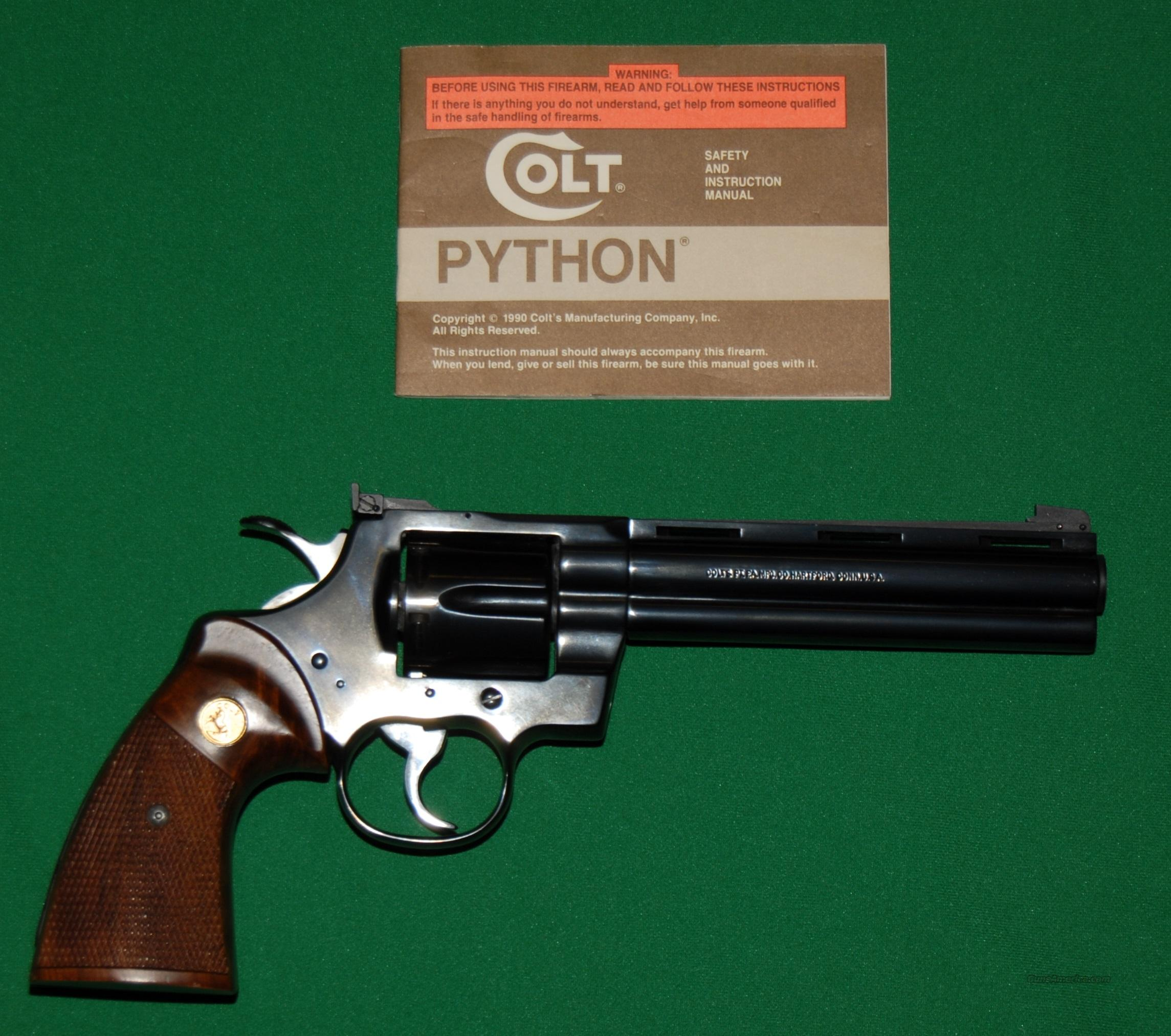 "Colt Python, 357 Mag 6"" Barrel, Used like New  Guns > Pistols > Colt Double Action Revolvers- Modern"