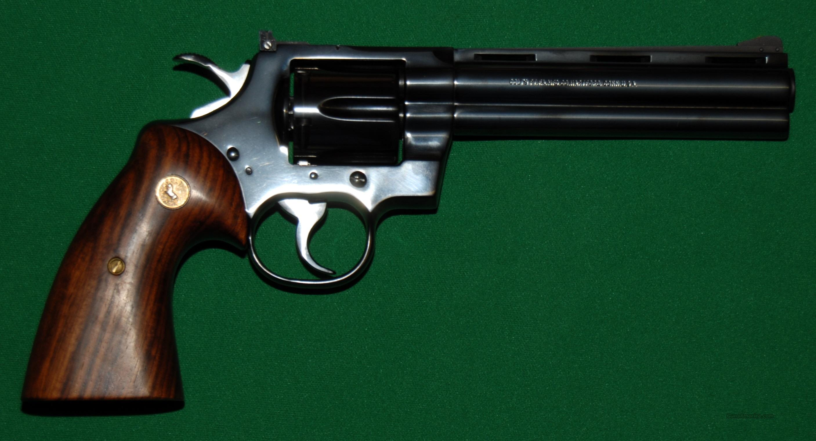 "Colt Python Blued 6"", Used Like New  Guns > Pistols > Colt Double Action Revolvers- Modern"