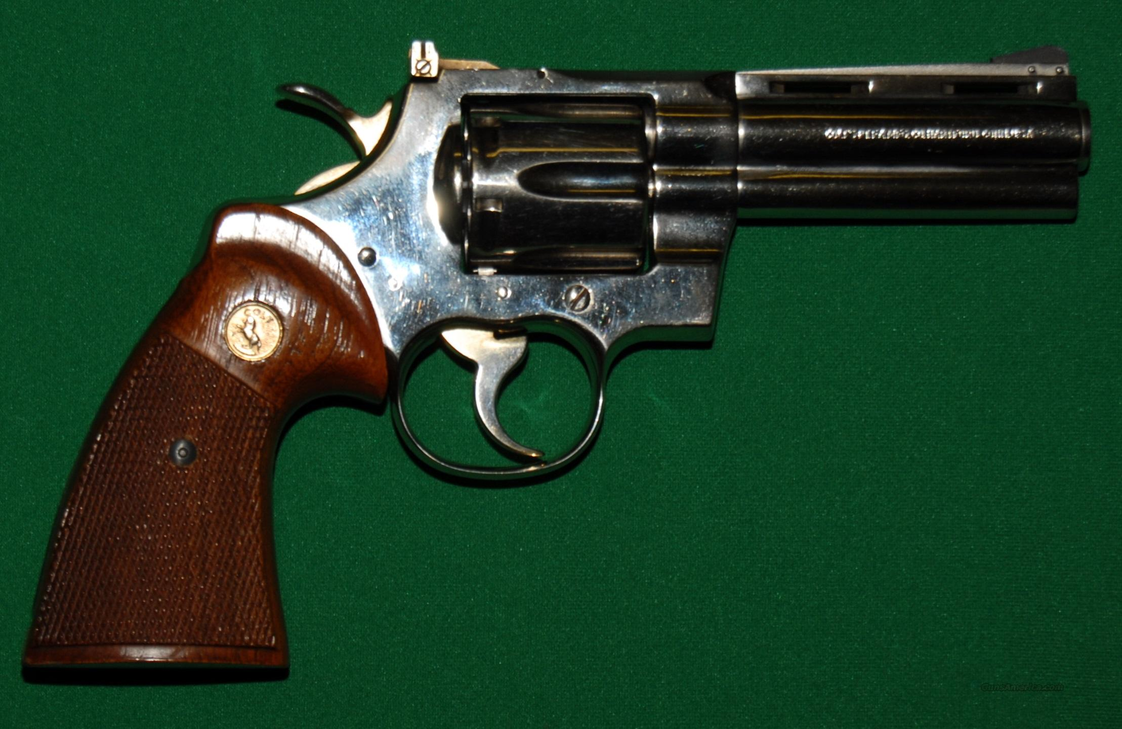 "Colt Python, 357 Mag 4"" Barrel, Used 98%  Guns > Pistols > Colt Double Action Revolvers- Modern"