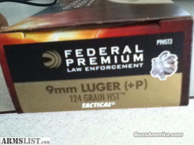 Federal 9mm HST 124+P ammo  Non-Guns > Ammunition