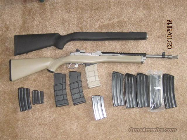 Ruger Mini 14, stainless tactical, Ultimak rail.  Guns > Rifles > Ruger Rifles > Mini-14 Type