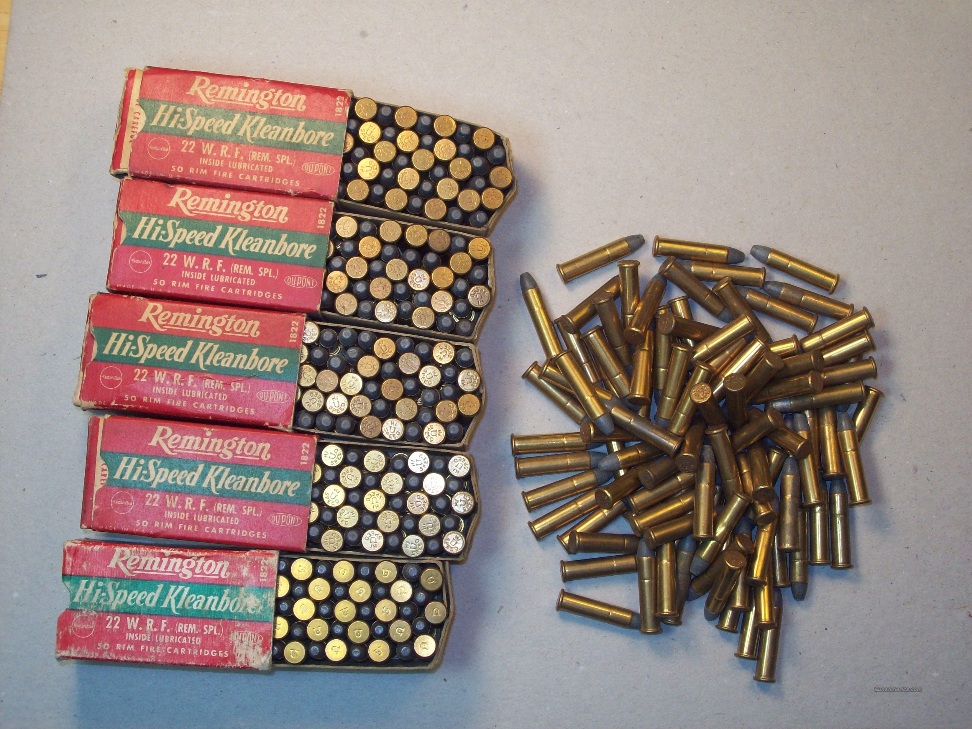 Ammunition - VIntage .22 W.R.F.  Non-Guns > Ammunition