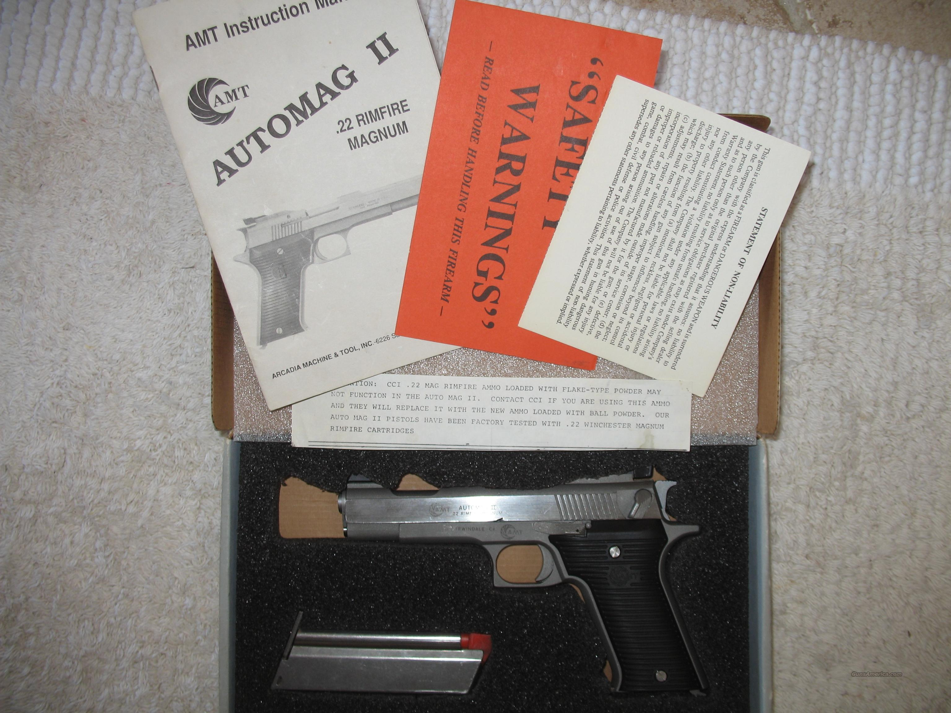 AMT Automag 11  22 Mag  Guns > Pistols > AMT Pistols > Other