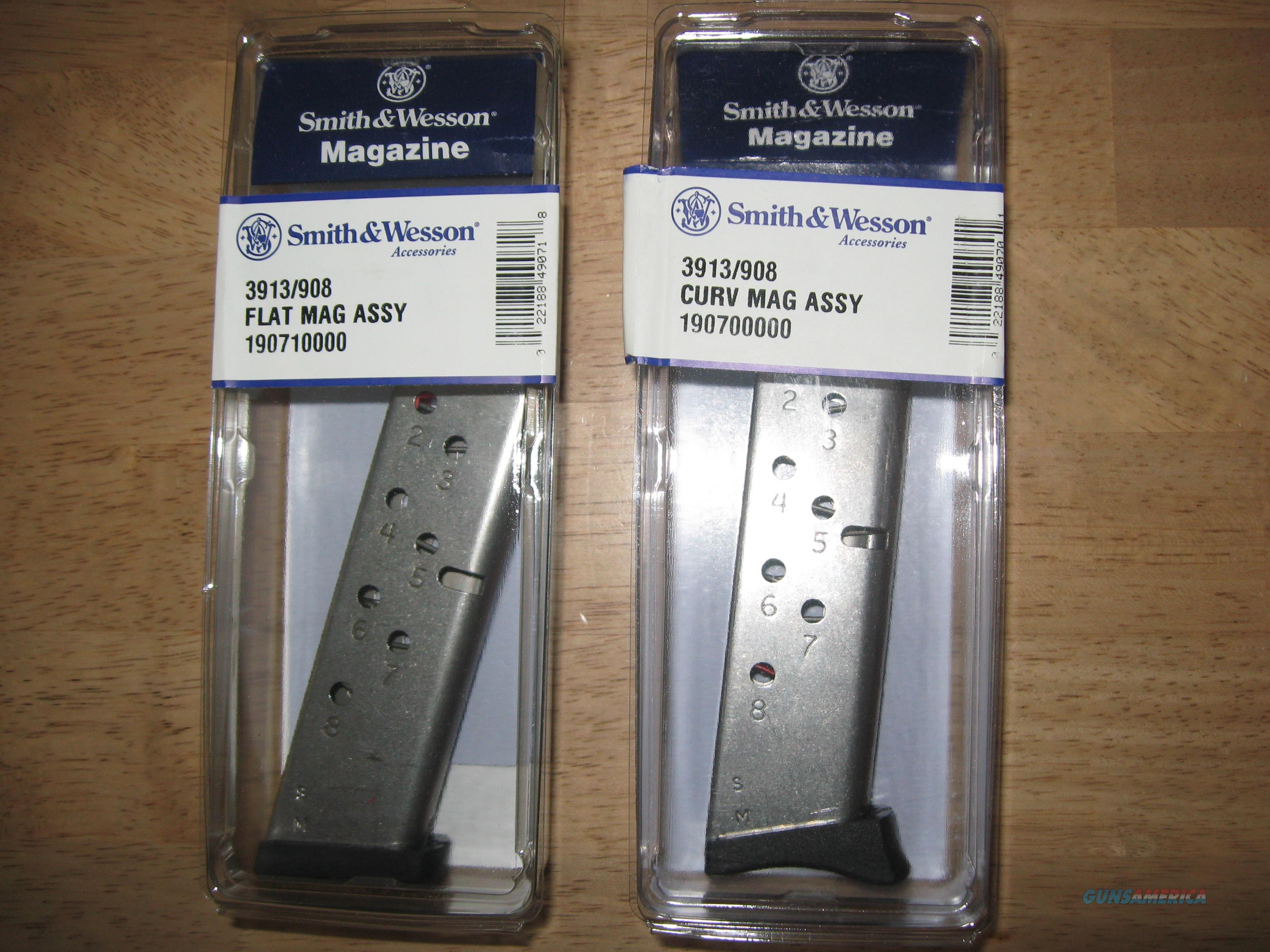 Smith & Wesson 3913/908 9mm 8 Round Mags - New    Non-Guns > Magazines & Clips > Pistol Magazines > Smith & Wesson