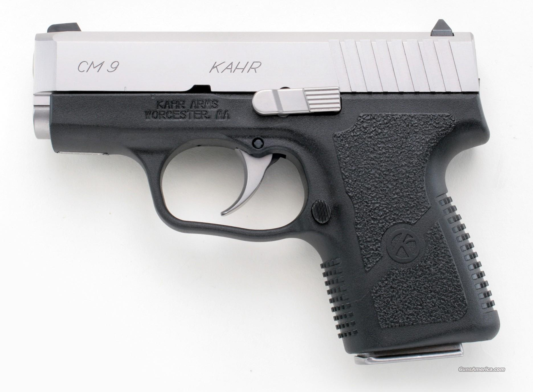 KAHR CM9 9MM COMPACT STAINLESS - NEW - 2 MAGS!  Guns > Pistols > Kahr Pistols