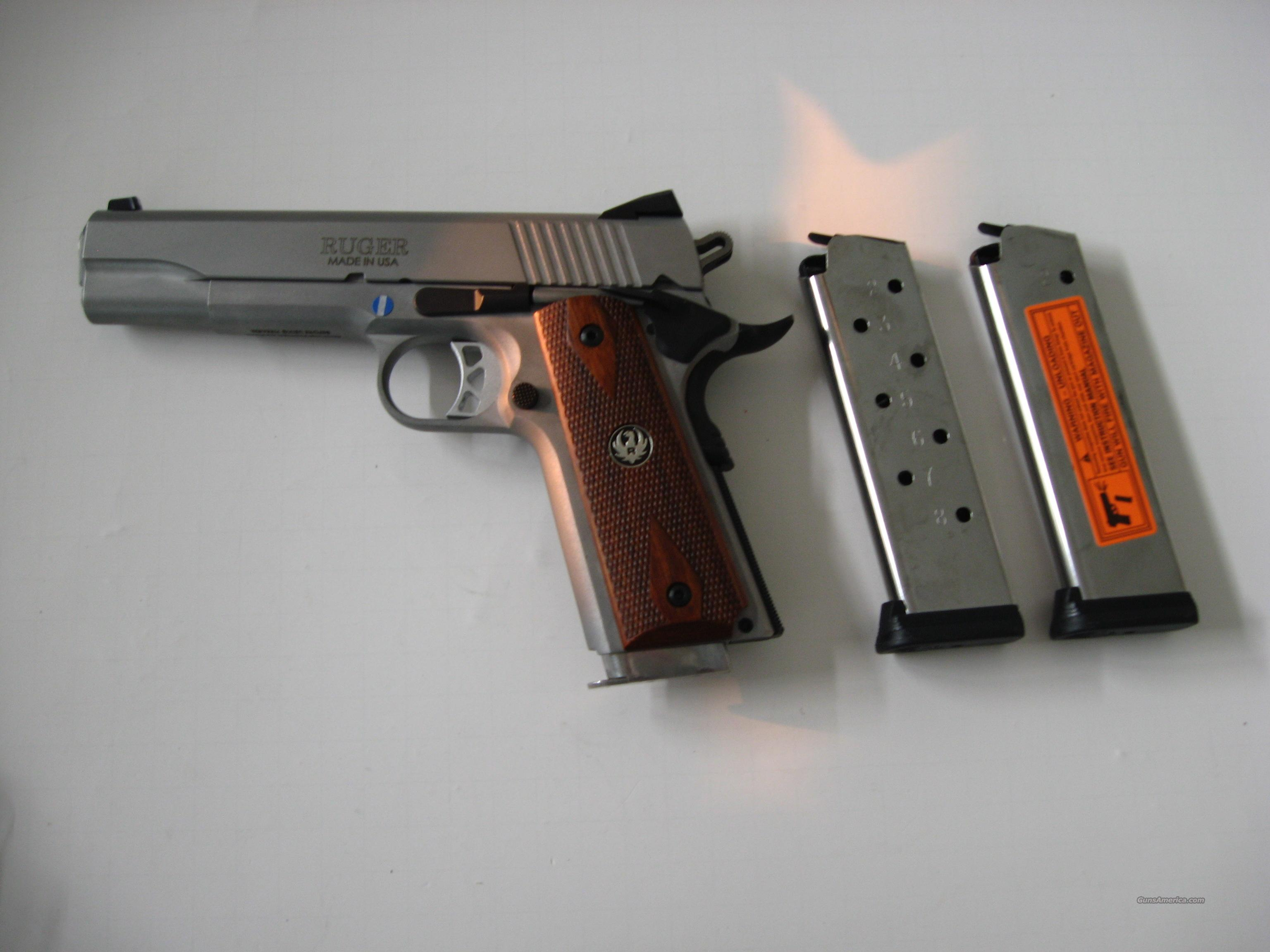 Ruger SR 1911 45 acp Stainless New – 3 Mags  Guns > Pistols > Ruger Semi-Auto Pistols > P-Series