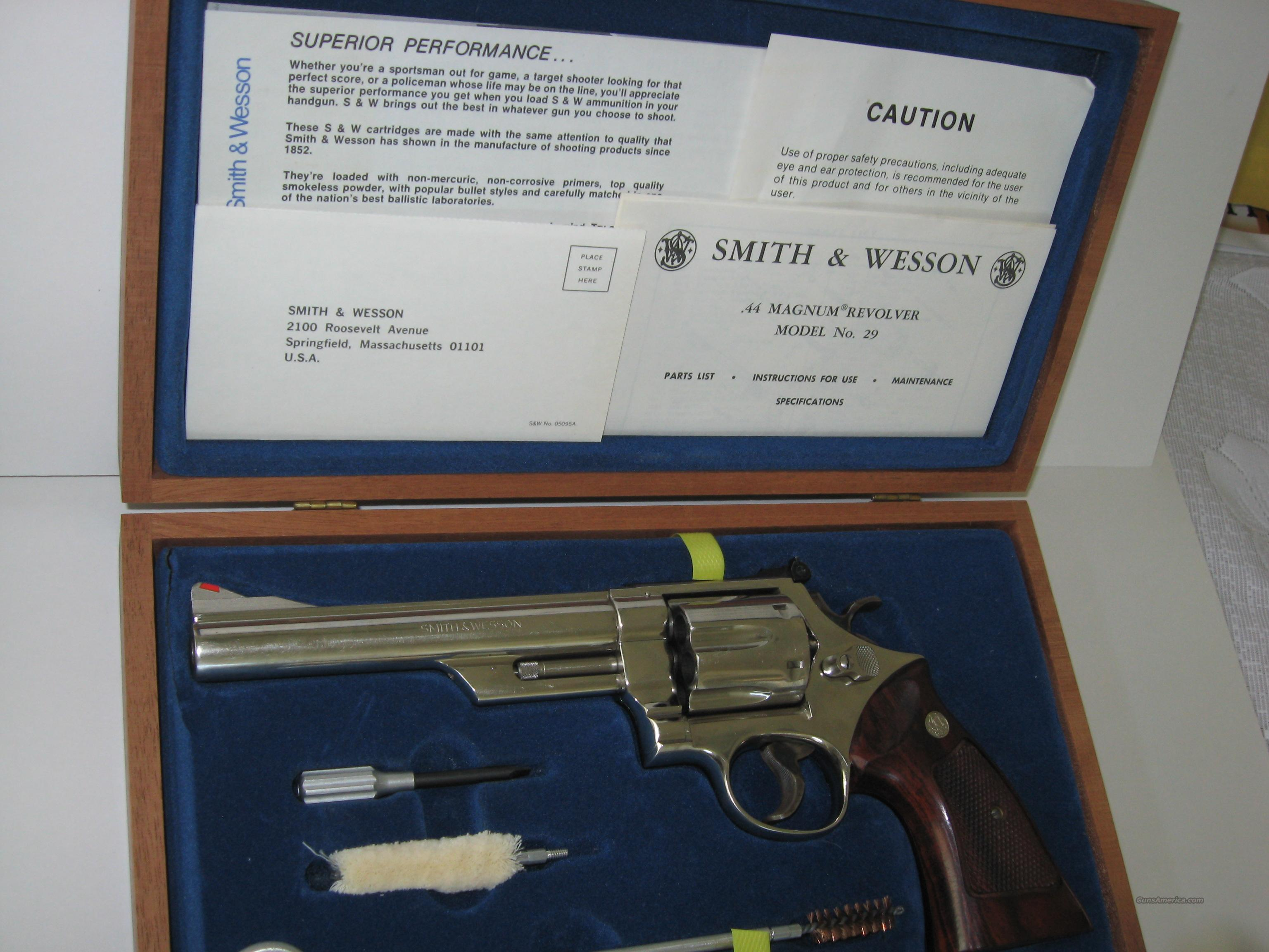 Smith & Wesson 29-2, Nickel 44 Magnum  Guns > Pistols > Smith & Wesson Revolvers > Full Frame Revolver