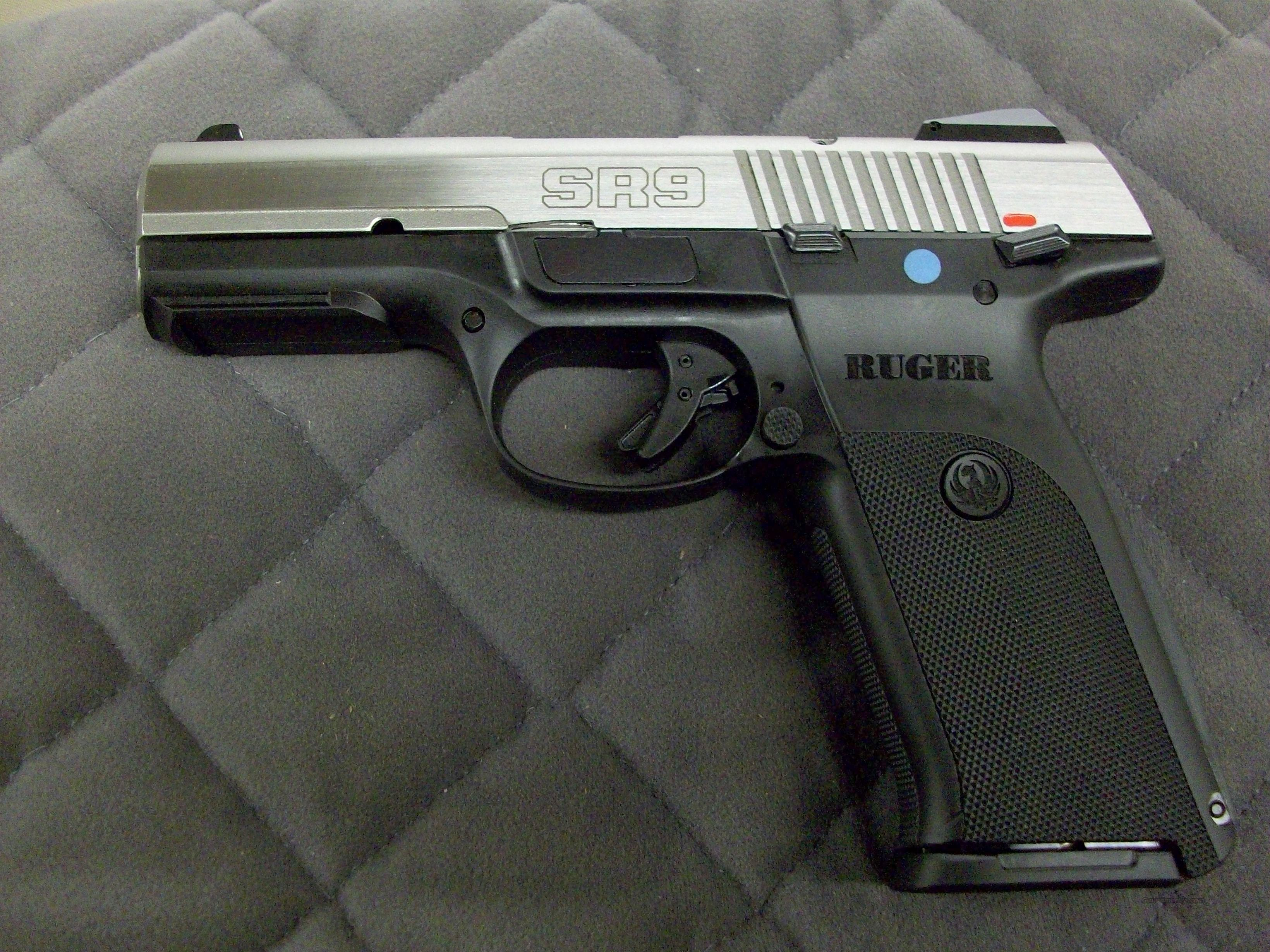 Ruger SR9 9 mm Stainless  **NEW**  Guns > Pistols > Ruger Semi-Auto Pistols > SR Family